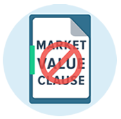 There are NO Market Value Clauses in our GAP insurance policies.