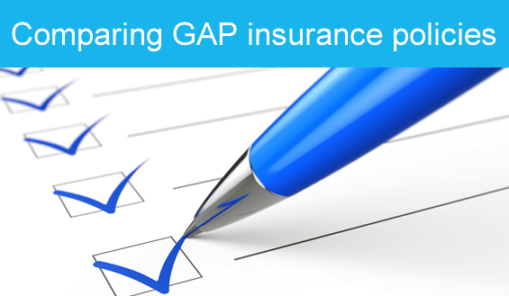 Compare our GAP insurance policies