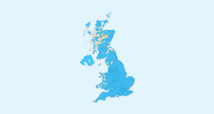 A Map Of UK Policyholders